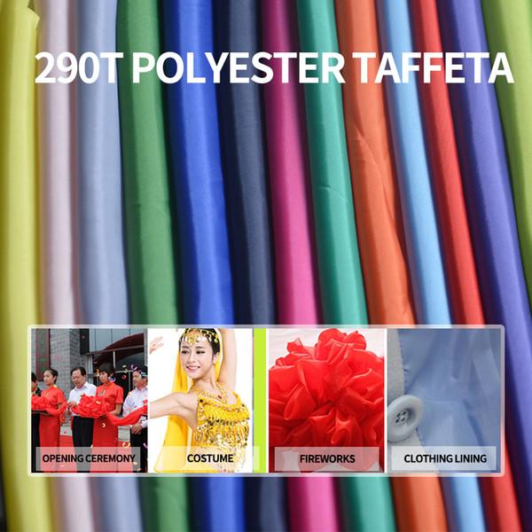 Aşağı ceket 290t polyester tafta kumaş astar için 1M * 1.5M Poli astar kumaş