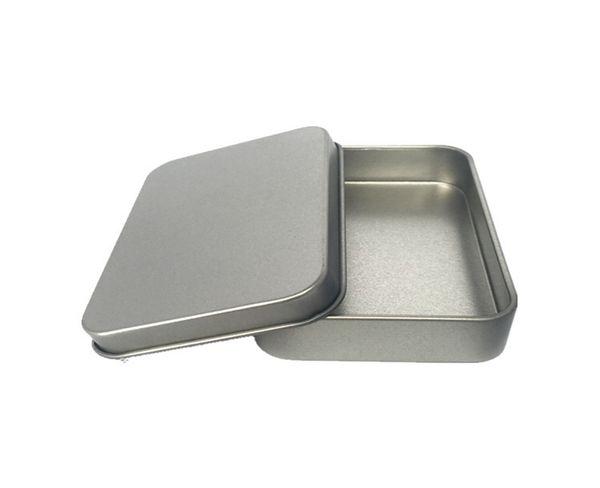 200pcs/lot 88*60*18mm Silver Rectangle Tin box Metal tea candy USB storage box case Gift Boxes