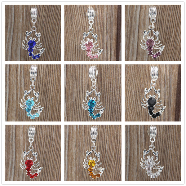 Free shipping unique scorpion crystal charms animal pendant charms fit pandora charms women men diy bracelet jewelry ZY007