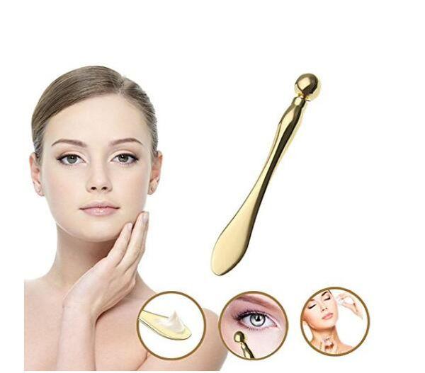 Eye Massager Wand Wrinkle Removed Skin Massage Tool Eye Cream Massage Sticks Anti Wrinkle Eye Massage Tool Rose Gold