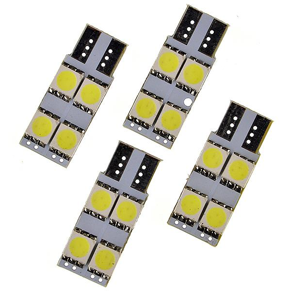 T10 4smd 5050 LED Car tail box light bulb no polarity Auto Luggage Compartment Lights Reading