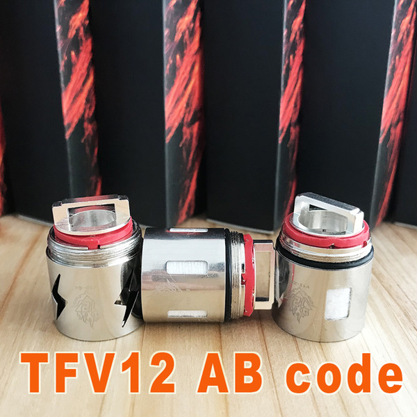 Original AB code TFV12 Coil Head Replacement T12 T6 X4 Q4 Atomizer Heads Beast Cloud Monster Vape V12 Original