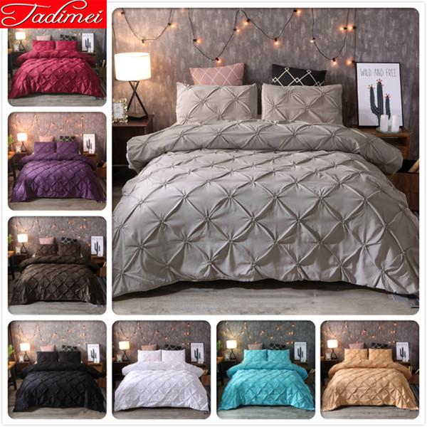 Plain Pure Color Big Size Duvet Cover Set Quilt Comforter Pillow Case Adult Kids Child Bed Linens Single Full Double Queen King