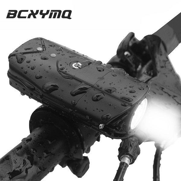 BCXYMQ USB аккумуляторная велосипедная лампа включает в себя литиевые батареи велосипеда переднего света светодиодные головки водонепроницаемый велосипед