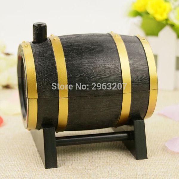 30pcs Creative Wine Barrel Style Plastic Automatic Toothpick Box Toothpick Container Dispenser ZA6950