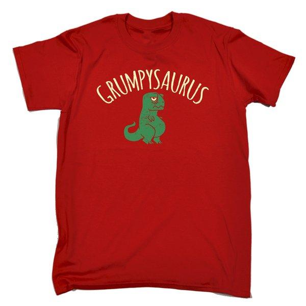 Grumpysaurus MENS T-SHIRT tee cumpleaños dinosaurio t-rex dino lindo dibujo animado divertido divertido envío gratis camiseta ocasional