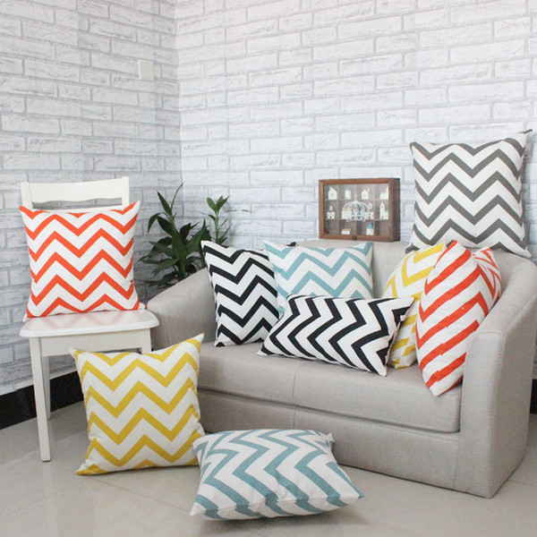 Awesome Home Decor Car Bed Decorative Scandinavian Wavy Patterns Pillow Case Cushion Cover Decorative Pillows For Sofa Outside Seat Cushions Wicker Patio Dailytribune Chair Design For Home Dailytribuneorg