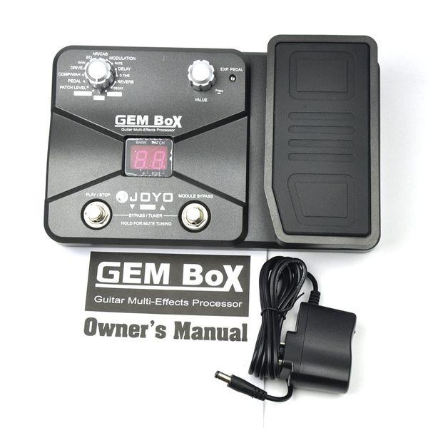 JOYO GEM Box Guitar Multi-Effects Processor Pedal With Power Adapter