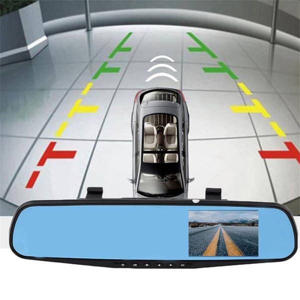 4.3 inç TFT HD 1080 P Araba Araç Seyahat Veri Kayıt Arka Araba Dvr Görünüm Ayna Kamera G-sensor Gece görüş Döngüsel kayıt