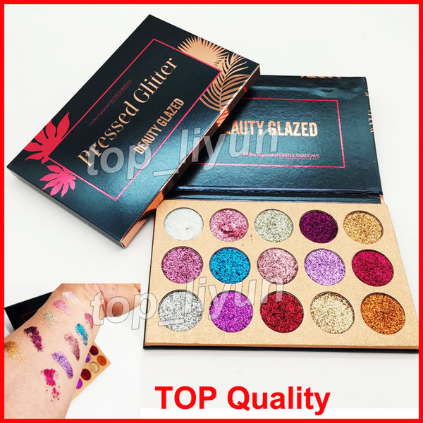 best selling in stock Beauty Glazed Eyeshadow Palette 15 Colors Glitter Eye shadow Palette Beauty Makeup Ultra Shimmer Face Cosmetics DHL free shipping