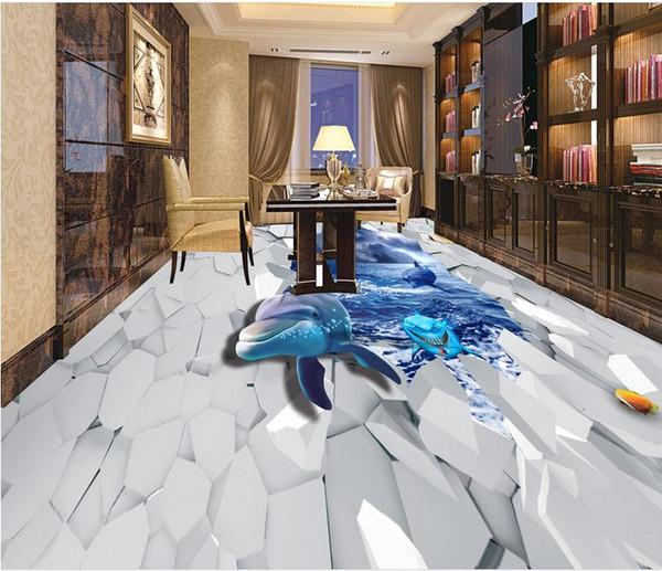 Großhandel Klebende Wandverkleidungen Shark Sea World 3D PVC Boden Tapete  Für Das Badezimmer Von Wallpaper2017, $48.25 Auf De.Dhgate.Com   Dhgate