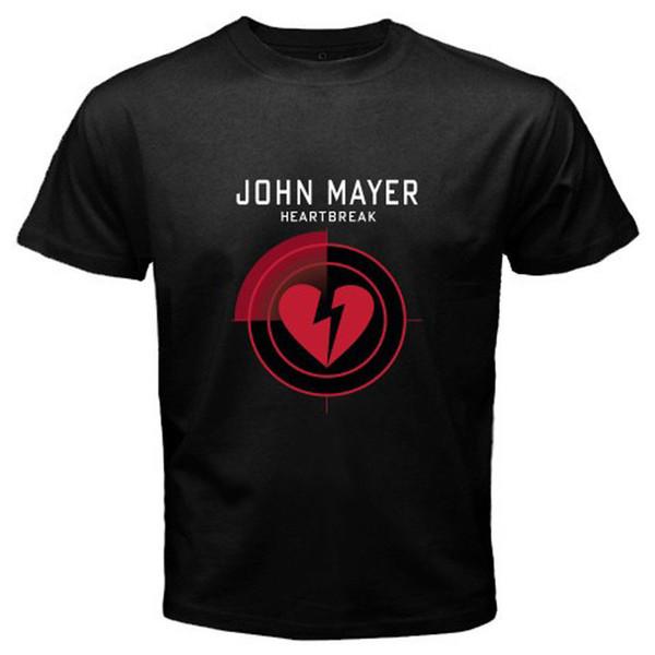 Loose Cotton T Shirts For Cool Tops Crew Neck Design John Mayer Heartbreak Short Sleeve T Shirts For Men
