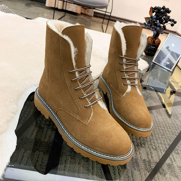 Women Snow Boots VGG Warm Winter Boots Female Fashion Women Shoes Faux Suede Ankle Boots For Women Botas Mujer Plush Insole Snow Booties