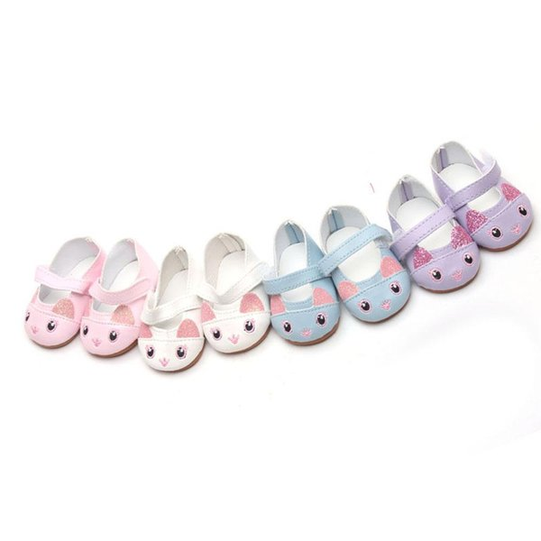 2018 Cat Doll Shoes Mini Leather Shoes Cat American Girl Doll Fashion Handmade Trend Drop Shipping