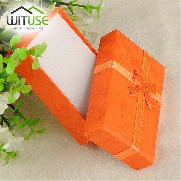 19 Color 2 Sizes---Mini Jewelry Ring Case Earring Watch Necklace Small Carton Present Gift Box 11.11 Promotion sale