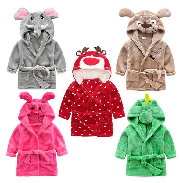 Kinder Bademantel Cartoon Tier Pyjamas Mit Kapuze Kinder Bademantel für Jungen Mädchen Nachtwäsche Weihnachten Rentier Bademantel Hause clothin T2I243