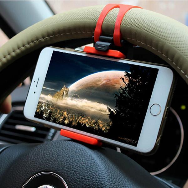 Evrensel Araç Telefonu Tutucu Direksiyon Bisiklet Klip Dağı Cep Telefonu Samsung iPhone Redmi Xiaomi Not Için Soket Standı