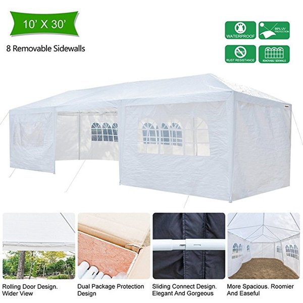 Grntamn Outdoor Canopy Wedding Party Tent, Upgraded Thicker Tube Steady Unique Frame Design,Sun Shelter Anti-UV,Event Gazebo