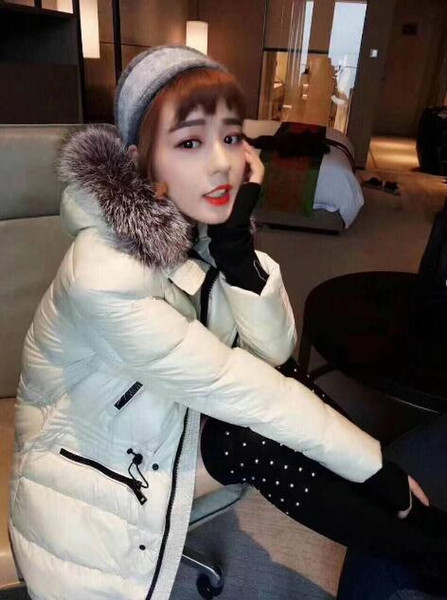 Women Top Brand detachable Fur hat Long Down famous brand Winter Jacket Coat For Sale Wholesale Hoodie With Big Fur