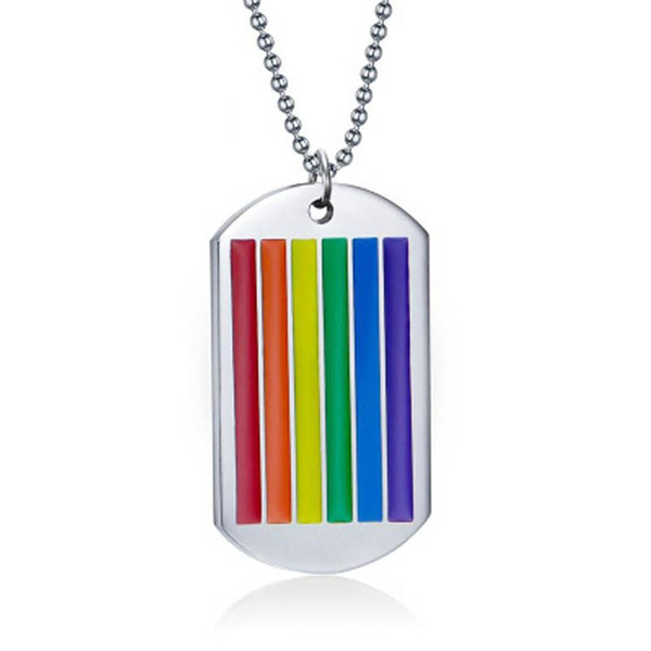 Hot Fashion Rainbow Pendant Chain Necklace Gay Lesbian Stylish Promise Jewelry