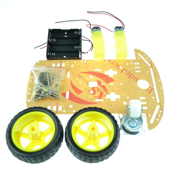 2019 4 Wheel Robot Chassis Smart Car With Speed And Tacho Encoder