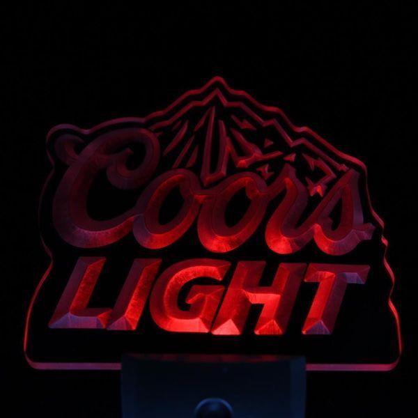 Wholesale- ws0002 Coors Light Bar Beer Decor Day/ Night Sensor LED Night Light Sign