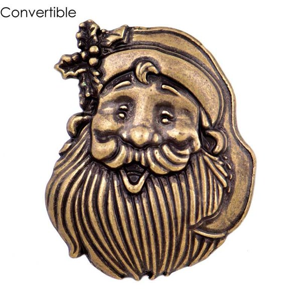 2018 Rivca Inserts convertible alloy Silver Gold Christmas man magnetic Brooch fit antique Scarf Clip Vintage Muslim pin Brooches for party