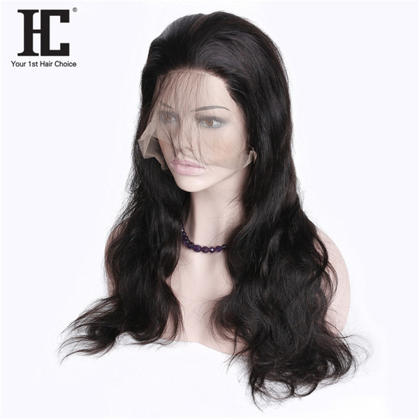 "Body Wave Lace Front Human Hair Wigs 10-24"" Long/Short Bob Swiss Lace Frontal Wig 130% Density Peruvian Remy Hair Wig"