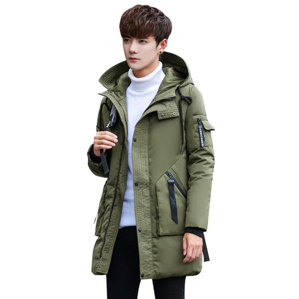 Nuevo invierno Algodón Acolchado Chaqueta larga Hombres sudaderas con capucha gruesas Parka abrigo para hombre Acolchado chaqueta de invierno Abrigo MY-133