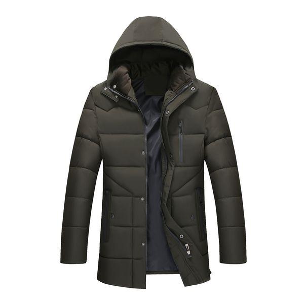 Moda 2018 Yeni Kış ceket Erkekler kapşonlu palto rahat sıcak pamuk Parka ceket erkek ceketler mont kalınlaşmak dış giyim