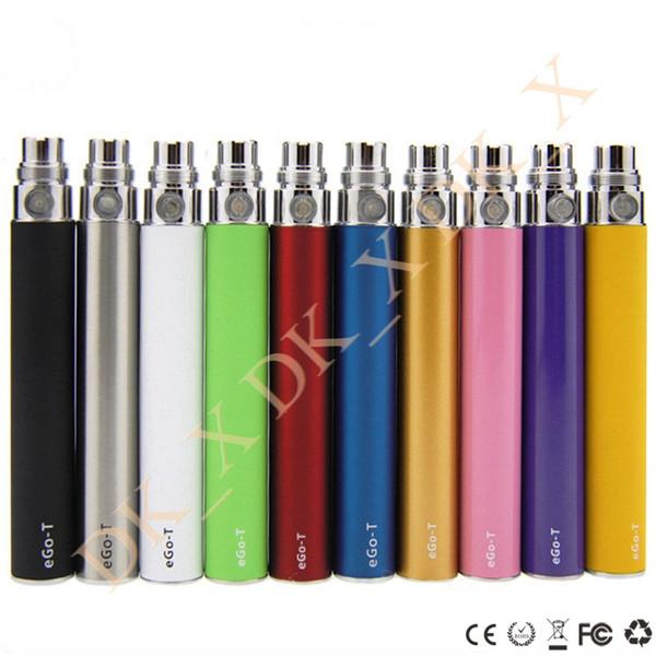 eGo-T Battery 510 Thread 650mAh 900mAh 1100mAh E-Cigarettes for BUD Glass Cartridge Ceramic Vaporizer eGo eCigs Vape Pen