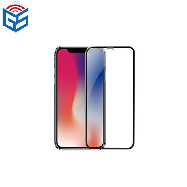 For Iphone XR XS XS Max X 2.5D Silk Print Full Cover Tempered Glass Screen Protector Film For Iphone Wholesale