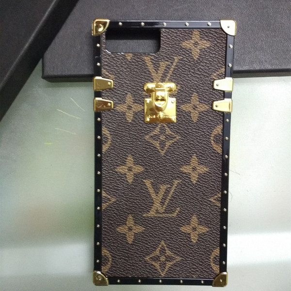 Fashion Luxury Paris Show Hybrid TPU + Custodia in pelle PU per iPhone XS XR Xs Max 6 6plus 7 8 plus Custodie protettive classiche retrò