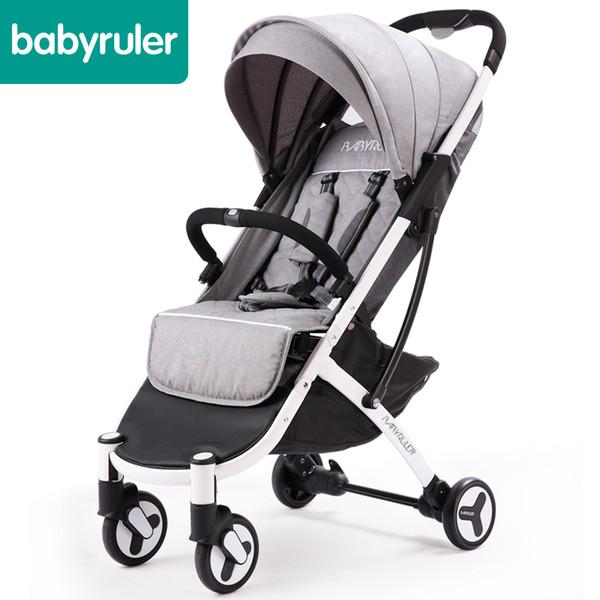 2018 poussette carrinho de bebê 5.8 kg de alta assento carrinho de bebê cinco cores brindes qualidade de uma mão dobrável luz carraige
