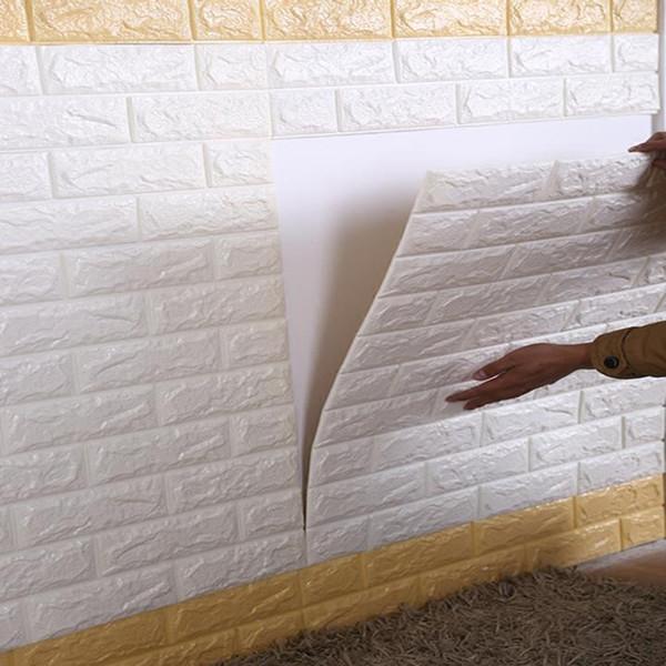 70 * 15 cm Köpük 3D Duvar Çıkartmaları Emniyet Ev Dekor Duvar Kağıdı DIY Duvar Dekor Tuğla Oturma Odası Çocuk yatak odası Dekoratif Sticker 1 ADET