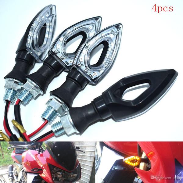 For 2 pcs 12 LED 12V Universal Blinking Motorcycle Turn Signal Indicator Light Blinker High Quality Light Bike Light Multi Color Lamp