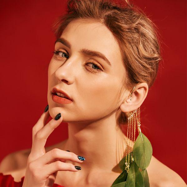 Ear Ring Super Fairy Feather Ear Hook Bohemian Long Tassel Earrings Earless Earrings Hair Accessories Fashion Five Color Kiss Me