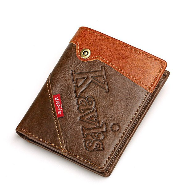 Free shipping quality vertical men leather wallet with cheap price men short wallet by 100% genuine leather women short wallet