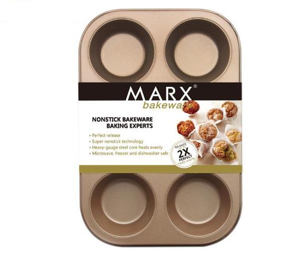 Práctico 6 tazas diy herramientas para hornear antiadherente de acero molde de la magdalena tarta de huevo bandeja para hornear plato muffin pastel molde molde de galletas para hornear