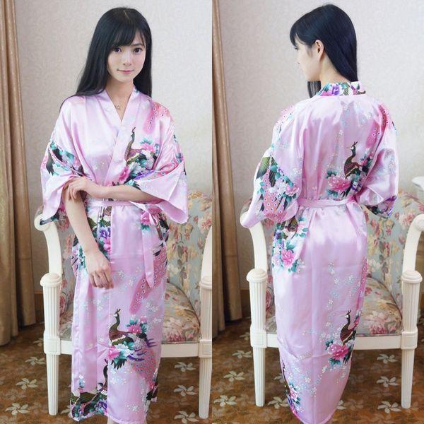 Сексуальная Yukata Женщин Кимоно Пижамы Кардиган Кружева Халат Халат Сексуальный Косплей Павлин Женщины Костюмы Сексуальные Пижамы