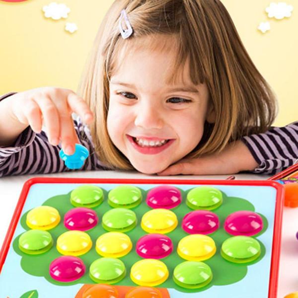 top popular 3D Puzzles Toys for Children Creative Mosaic Mushroom Nail Kit Buttons Art Assembling Kids Enlightenment Educational Toys Mosaic 2021