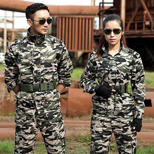 Outdoor Sport Hunting Clothes Camouflage Suits Tactical Shirt+Combat Cargo Pants Uniforme Militar Uniforms Ghillie Suit