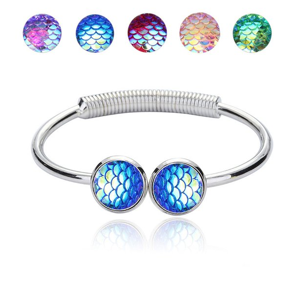 cuff Bracelet for women 2018 Fashion mermaids Crystal Mosaic MultiLayer Vintage Ethnic Statment Bracelets for Women Jewelry free shipping