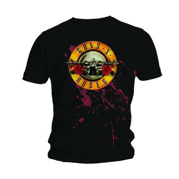 Mens Guns n Rosen Kugel Logo Schrägstrich Axl Rose Officiel T-Shirt Hommes