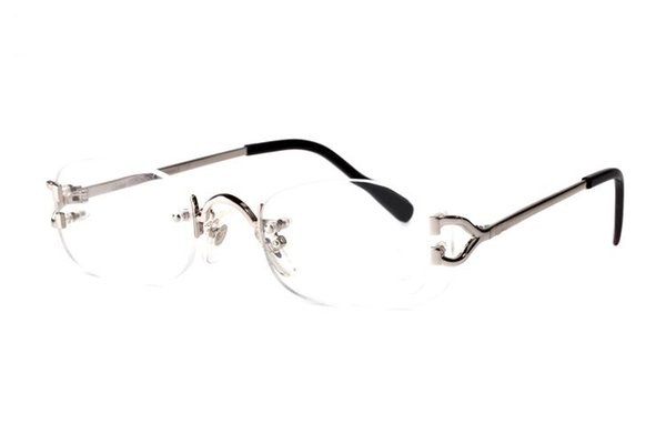 france brand name White buffalo horn glasses men women sunglasses fashion clear lens rimless gold frame Stainless glass with original boxes
