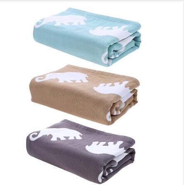 Pure Cotton Soft Warm Baby Bath Towel Newborn Blanket Large Size for Adult Children Cartoon Elephant Print Swim Quilt