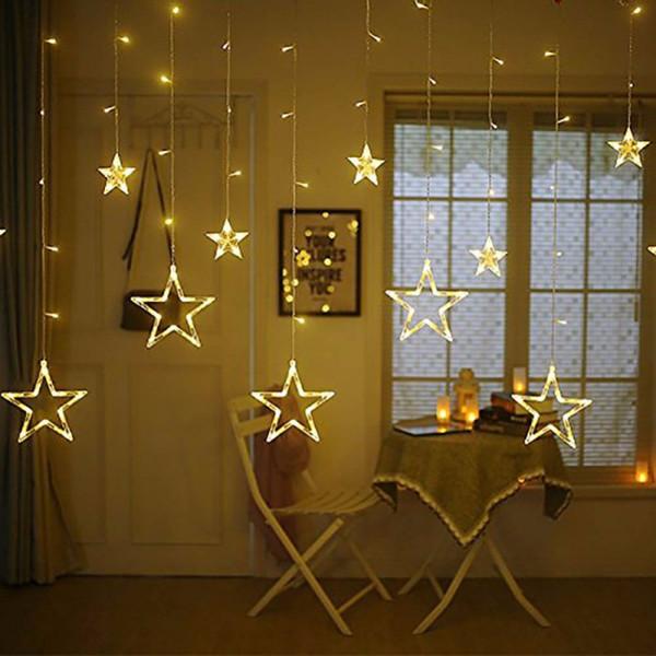 Grosshandel 12 Sterne 138 Led Vorhang Lichterketten Fenster Vorhang