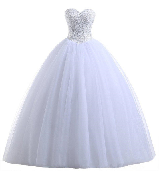 The new white collar and heart-shaped multilayer net skirt Tutu back strap size XL custom handmade coat shiny sequins a heavy bag mail