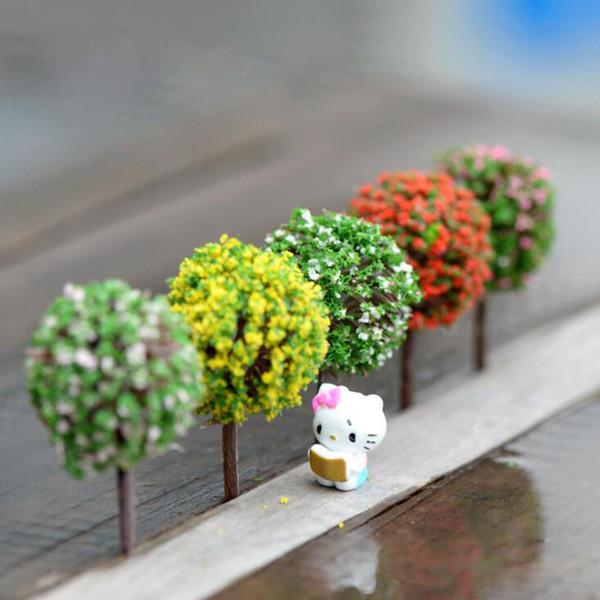 Mini Jardin Décorations Résine Arbre Fée Jardin Jardin Miniatures Arbres Jardin Décoration Terrarium Figurines Miniature livraison gratuite