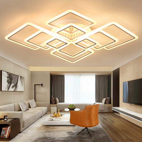 Acheter Acrylique Moderne Plafonnier LED Cadres Chevauchement Grande Lampe  De Plafond De Luxe Pour Le Salon Lit À Manger De $68.75 Du Jess678 | ...